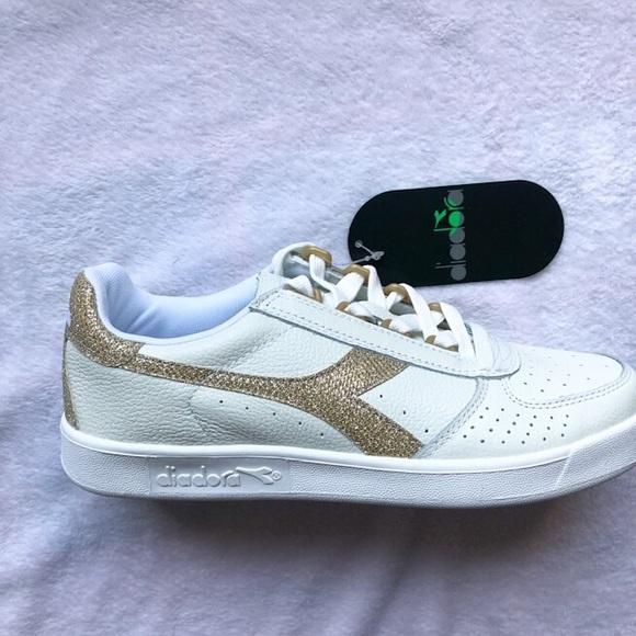 587c0dc7 🆕 Gold White Diadora Sneaker Tennis sz 8 NWT